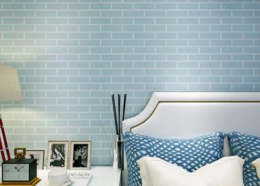 전 파랑 - 비 길쌈하는 풀칠된 자동 접착 벽지/3D 벽돌 벽지, 세륨 기준