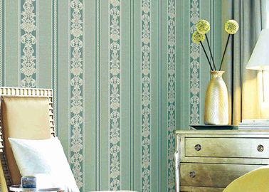빨 수 있는 고전적인 줄무늬 꽃무늬 벽지, 비닐 물자 튼튼한 벽지