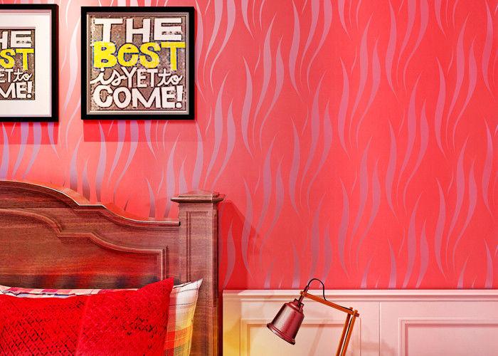 거실을 위한 벽지/현대 빨간 벽지가 열 절연제에 의하여 3D ...